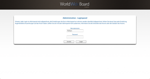 Administrations Login