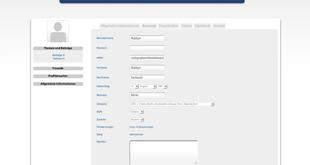 Profil-Accountdaten